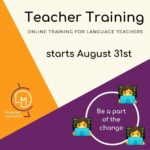 Teacher training August 31st