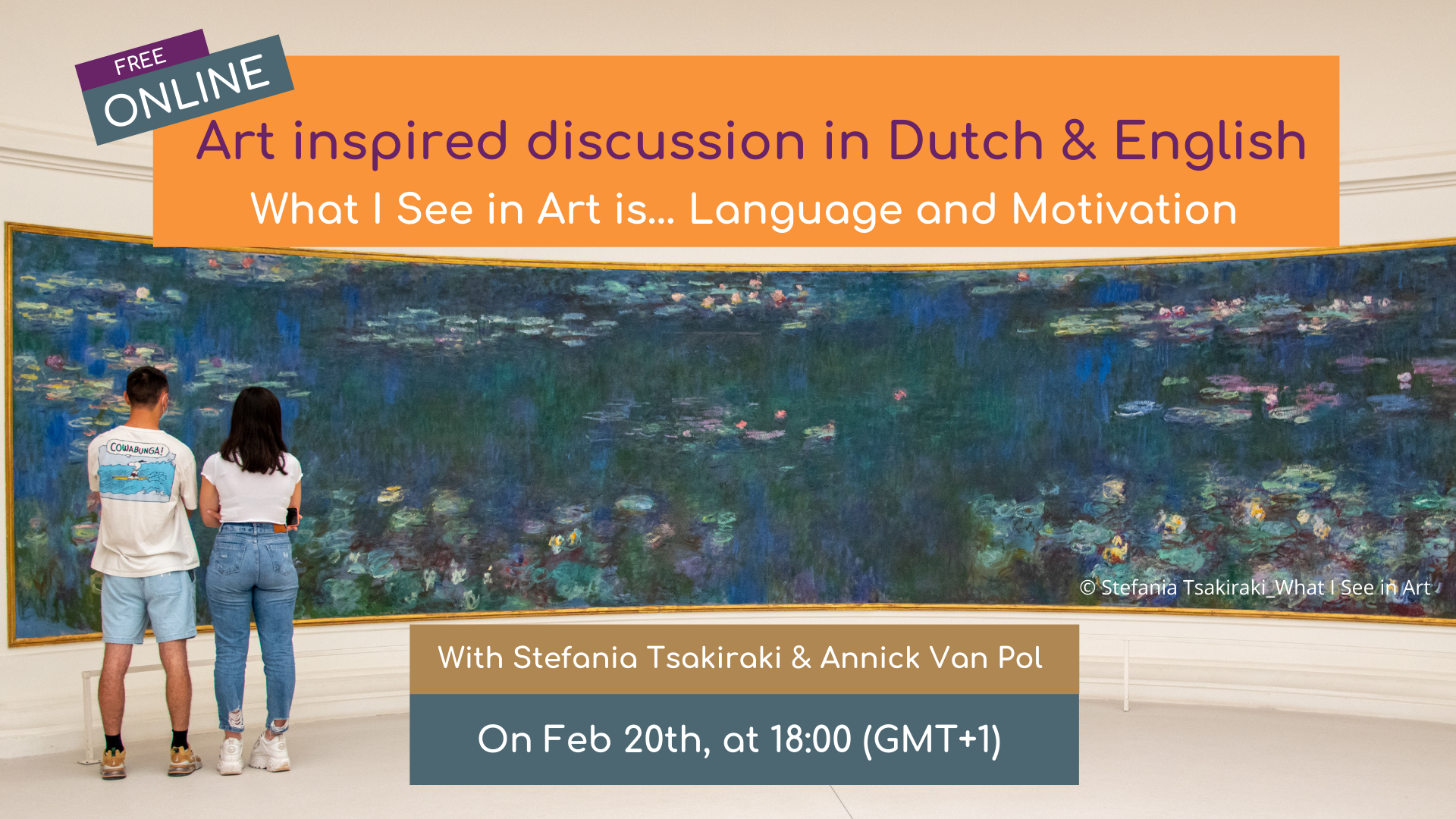 Art Inspired Online Discussion in Dutch 🇳🇱 & English 🇬🇧 -all levels welcome